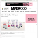 Win 1 of 3 Goodbye OUCH packs (Worth $91.30) from Mindfood