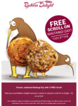 FREE Sweet or Savoury Scroll on Waitangi Day @ Bakers Delight
