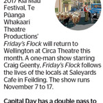 Win a Double Pass to Te Pūanga Whakaari Theatre Productions Friday's Flock from The Dominion Post (Wellington)