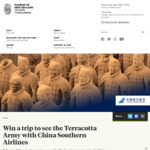 Win a Trip to See The Terracotta Army in Xi'an Worth $6,000 with China Southern Airlines