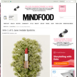 Win 1 of 5 Jane Iredale Lipsticks (Worth $62) from Mindfood