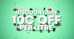 Discount Day - 10 c/Litre off Fuel (from 7am 20/6 - 12pm 21/6) @ Gull