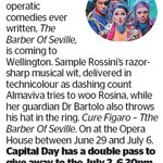 Win a Double Pass to The Barber Of Seville from The Dominion Post (Wellington)