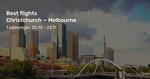 Trans-Tasman Jetstar eg Christchurch to Melbourne from $258 Return @ BeatThatFlight