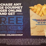 BurgerFuel - Free Spud Fries with Any Large Gourmet Burger Purchase Online
