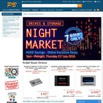PB Tech Night Market - Various SSDs, HDDs, Micro SD Cards - from 5pm Today till Midnight