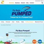 Z Pumped Day 6c off & 3x Flybuys Points Tomorrow Fri 4 Nov 2016