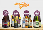 $15 off any Purchase with Delivery Included from Vineonline @ GrabOne