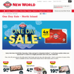$4.99/kg Pork Leg Roast, $0.99 Bobby Bananas, 2 for $3 Shapes & More (Plus 4x Airpoints/Flybuys) @ New World One Day Sale (3/6)