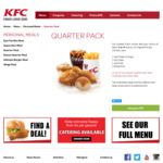 KFC - 2 Quarter Packs for ~ $10 (Buy 1 Get 1 Free)