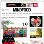 Win a Well Naturally Prize Pack (Chocolate Bars) from Mindfood