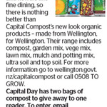 Win 2 Bags of Capital Compost from The Dominion Post (Wellington)