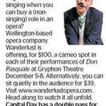 Win a Double Pass to Don Pasquale at Gryphon Theatre from The Dominion Post (Wellington)