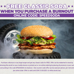 Free Classic Soda with Purchase of Any Large Burger @ BurgerFuel