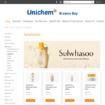 15% off Sulwhasoo (e.g. Cleansing Foam/Oil 200ml $42.49) + Free Delivery @ Unichem, Browns Bay