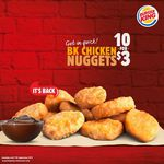 Win $50 Worth of Burger King Burger Bucks