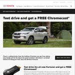 Test Drive a Toyota and Get a FREE Google Chromecast (1st Generation)*