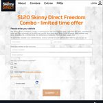Skinny Direct - $120 Per Month - Freedom NZ Data + Unlimited Calls/Txts
