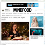Win 1 of 3 Double Passes to an Evening with Nigella Lawson from Mindfood