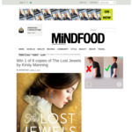 Win 1 of 8 copies of The Lost Jewels by Kirsty Manning from Mindfood