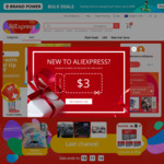 US $3 off Coupon (US $3.01 Min Spend) at AliExpress [via AliExpress Chrome Extension]