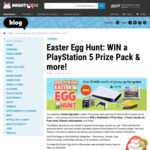 Mighty Ape Easter Egg Hunt 2021 (Prizes: x1 PS5 Bundle, Fraser Country 18L Airfryer, $20 Ape Vouchers, Mighty Ape Subscriptions)