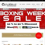 30% to 50% off Store Wide Nukleus Organic Wear End of Year Sale