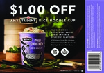 $1 off Any Trident Rice Noodle Cup 50g (Coupon)