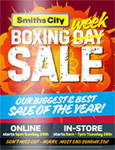 "Smiths City Boxing Day Sales - LG 55"" OLED 4K HDR Smart TV ($2999) - Samsung 49"" Curved UHD 4K Smart TV ($999) + More"