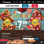 Traditional Pizza from $2 @ Domino's Pizza - Today Only from 2pm