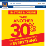 Take Another 30% off The Lowest Marked Price of Everything. In-store & online @ T&T Childrenswear