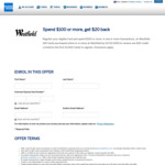 Buy a $100 Westfield Gift Card, Get $20 Back via American Express
