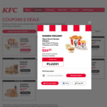 10 Pcs Original Recipe, Large Chips, Large Potato & Gravy, Large Coleslaw $26 @ KFC