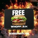Free Whopper Jr (if Breakers Score 90 and above) @ Burger King