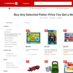 Buy Any Selected Fisher-Price Toy & Get a Meal Set Free valued $19.99 @The Warehouse
