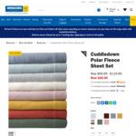 Cuddledown Polar Fleece Sheet Set $20 (Was $69.99 ~ $119.99) + Shipping / CC @ Briscoes