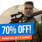 70% off When You Buy 2 Games @ PlayStation Store