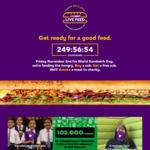 Buy One Get One Free @ Subway (Friday November 2nd)