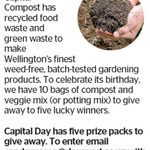 Win 1 of 5 Compost Packs (10 Bags of Compost and Veggie Mix) from The Dominion Post