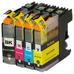 Set of Cartridges Compatible with HP, Brother, Epson & Canon Printers from $27 + Free Delivery @ Top Ink via Grabone