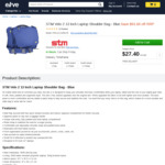 STM Velo 2 13 Inch Laptop Shoulder Bag - Blue $27.40 Delivered @ Elive