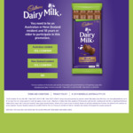 Free $5 Countdown, FreshChoice or  SuperValue Gift Card with Purchase of Cadbury Dairy Milk 180g (e.g. $3 at Countdown)