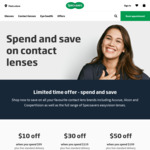 $50 off $199, $30 off $119, $10 off $99 Contact Lenses + Free Delivery @ Specsavers