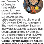 Win 1 of 3 Packs with Beer, Sausages, and Bacon (Worth $300) from The Dominion Post