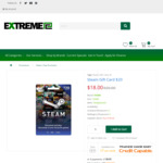 $20 Steam Gift Card for $18 @ Extreme PC (Click & Collect Auckland only)