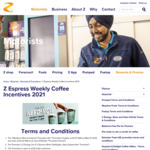 Two Free Hot Chocolates Per Customer Per Day @ Z Energy