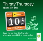 Save 10c/Litre on Fuel at BP (Min Spend $40) @ AA Smartfuel (Thurs 18/5)