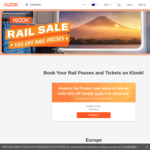 10% off Rail Passes & Tickets (Including JR Passes) at Klook