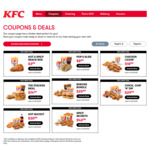 KFC Coupons: Hot and Spicy Snack Box $3.99, Burger Bundle $25.99, Chicken Lickin $18.99