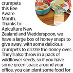 Win 1 of 2 Boxes of Honey Snaps, Crumpets & Wildflower Seeds from The Dominion Post